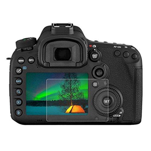 Displayschutzfolie, fcostume kratzfest 9H gehärtetem glas Displayschutzfolie für Canon 7D Mark II Kamera (Iphone 5s Fällen, Gorilla-glas)