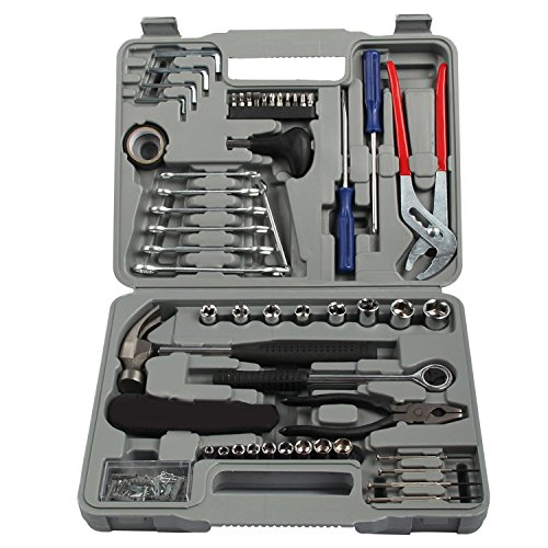 Komplett Tool Kit 141-teiliges Set DIY Heavy Duty Fall, Schraube Treiber Hammer Case Hauseigentümer Repair Mechaniker Garage Starter Box Marke New - Rolling Unterschrank