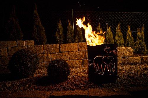Feuerkorb Afrika Feuerstelle Ferrum Edelrost Rost Feuerschale mit Muster