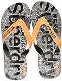Superdry SCUBA GRIT FLIP FLOP Infradito Uomo, Multicolore (Fluro Orange/Black/Grey Grit X2a), 44/45 EU