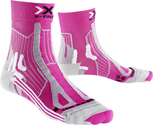 X-Socks Damen Socken TRAIL RUN ENERGY LADY, Pink/Pearl Grey, 39/40, X100108 -