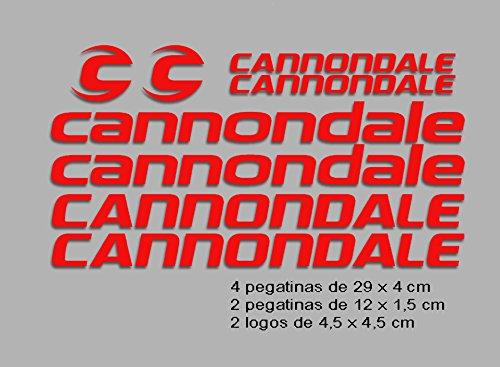 Ecoshirt VP-O0CX-WMYG Aufkleber Cannondale F117 Vinyl Adesivi Decal Aufkleber Polyurethan(Polyurethan) MTB Stickers Bike, rot -