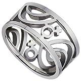 Aienid Schmuck Damen Ring Edelstahl Weibliche Mark Hellgrau Ringe 9mm Größe 62 (19.7)