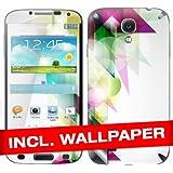 """Samsung Galaxy S4 i9500 I9505 Skin """" ABSTRACTICALS """" Sticker Handy Folie Aufkleber + Wallpaper, Schutzfolie fuer Cover"""