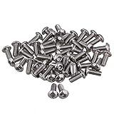 M4 hexagonal pernos hexagonales tornillos rosca de 10 mm longitud 50 unidades