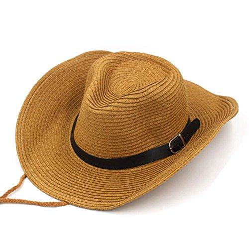 Chapeau/Les hommes et les femmes chapeaux d'été/Chapeaux de soleil SPF/Grand chapeau de paille/ cowboy extérieur chapeau/ plage chapeau pour hommes A
