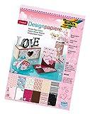 folia 11249 - Designpapierblock Sweet, DIN A4, 12 Blatt sortiert