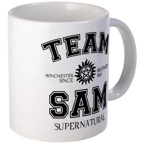 Cafepress-Squadra Sam Supernatural-unico tazza da caffè, 311,8gram tazze in tazza di caffè, tè