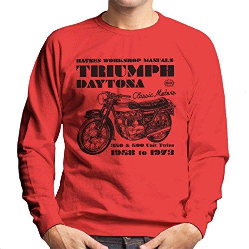 Haynes Owners Workshop Manual Triumph Daytona 350 500 Men's Sweatshirt - Daytona Spiel 500