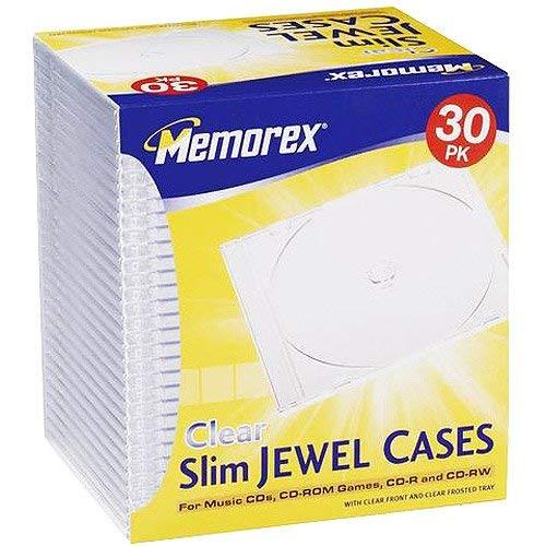 Supernon Memorex 30er Slim CD/DVD Jewel Case