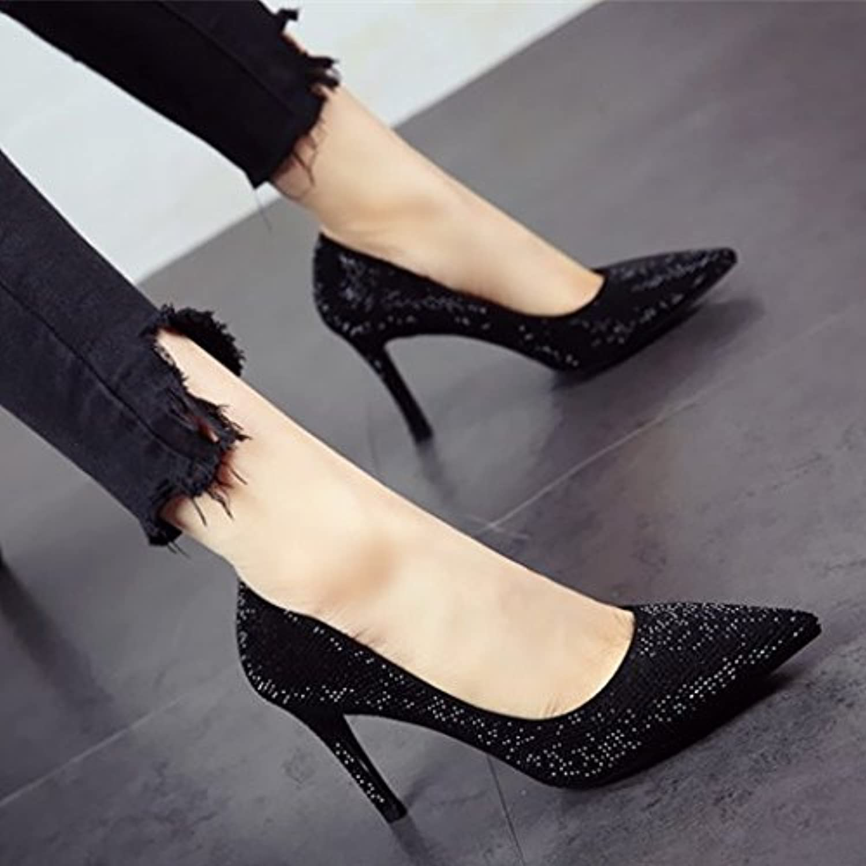 2db580184c4 FLYRCX European style personality fashion shallowly shallowly shallowly  shallowly thin heel high heel shoes lady temperament single.