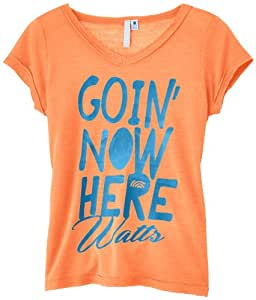 Watts Flash T-Shirt manches courtes Fille Orange Fluo FR : 8 ans (Taille Fabricant : 8)