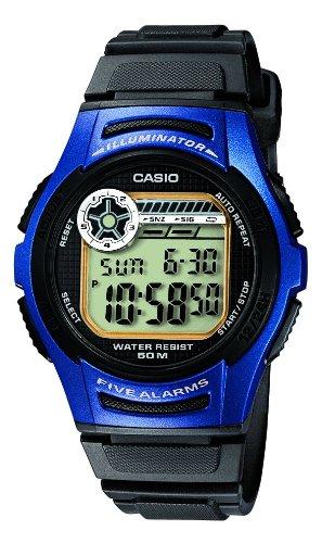 Casio Collection - Reloj digital de caballero de cuarzo con correa de resina negra (cronómetro, alarma, luz) - sumergible a 50 metros