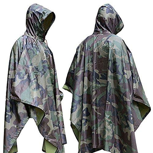 Aodoor Regenjacken Regenponcho wasserdicht regenmantel für die Jagd Camping, Freizeit Regenmantel, Camouflage Rain Poncho