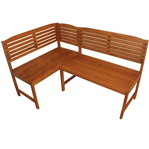 Flexible Eckbank Aruba Gartenbank Balkonmöbel Eukalyptus Gartenmöbel Terrasse