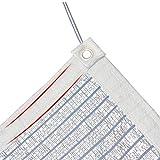 LSXIAO Rete Parasole Serre Antivento Rete Ombreggiante Protezione Solare Anti-UV Copertura for Piante Da Serra Foglio Di Alluminio Riflettente Occhiello Di Metallo Accessori for Esterni, 15 Dimensioni