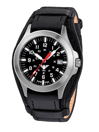 Preisvergleich Produktbild KHS Tactical Watches Platoon C1 KHS.PC1.R Edelstahl Leder / G-Pad