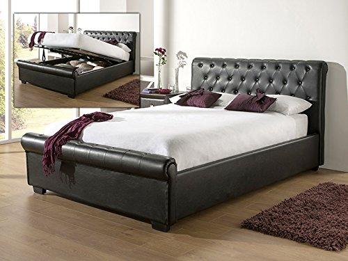 Snuggle Beds Eleanor - Black 5FT Kingsize Ottoman Beds