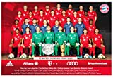 Poster Bayern München kompatibel Mannschaftsposter 2019/20 FCB + Aufkleber München Forever, Munich, Teamposter, Plakat