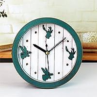 JinRou Continental retrò idilliaco accenti di legno e sveglia elegante e creative desk Jong-culla quando orologi antichi