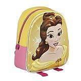 Disney La Bella e la Bestia 2100-1673 Zaino 3D 28cm, bambino, poliestere, multicolore, Belle