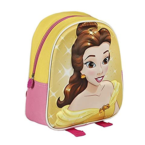 Disney Princess 2100001673 28 cm effet 3D Belle et la Bête Belle Kinderrucksack
