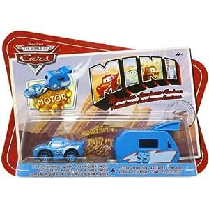 Mattel - P7497 - Disney Cars - Flash Mc Queen Dinoco + Mini Remorque - Véhicule à Friction