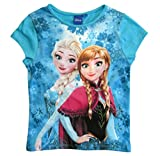 Frozen - Die Eiskönigin T-Shirt Kollektion 2018 Shirt 98 104 110 116 122 128 Mädchen Kurzarmshirt Anna ELSA Disney (Blau, 110)