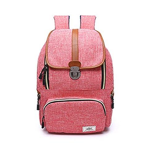 Wewod Fashion Shoulders Bag,Men&Women Outdoor Waterproof Nylon Travel Backpack Personality Retro Rucksack 15 Inch Laptop School Bag