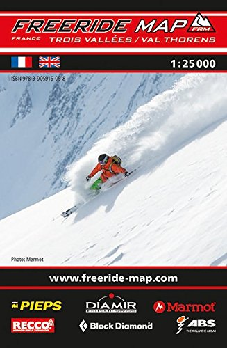Preisvergleich Produktbild Freeride Map Les Trois Vallées / Val Thorens: Maßstab 1:25 000