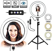 TyCom Selfie Ring Light with Tripod Stand,10 inch Inner USB Selfie Ring Light for YouTube Video and Live Makeu