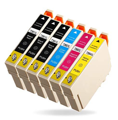 Azprint 6er Kompatibel Epson 29XL 29 XL Patronen Ersatz für Epson XP 342 Tintenpatronen für Epson Expression Home XP 342 332 442 345 445 245 235 247 255 257 335 352 355 432 435 452 455 Drucker - 3 Schwarz, 1 Cyan, 1 Magenta, 1 Gelb