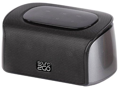 SOUND2GO CUBY - Bluetooth 3.0 Stereo Lautsprecher mit Freisprecheinrichtung, Micro-SD-Slot und Bluetooth Adapter über Line-Out - anthrazit