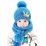 Baby Hut & Schal, Dragon868 Nette Kinder Mädchen Jungen Warme Woolen Coif Hood Schal Caps Hüte (Rosa)