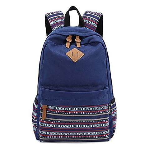 Vintage aztèque Tribal Unisex Canvas sac à dos sac à