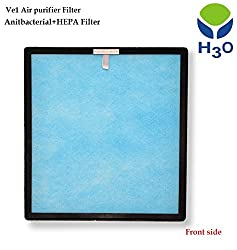 H3O VE1 Air purifier- Blue-Antibacterial HEPA filter