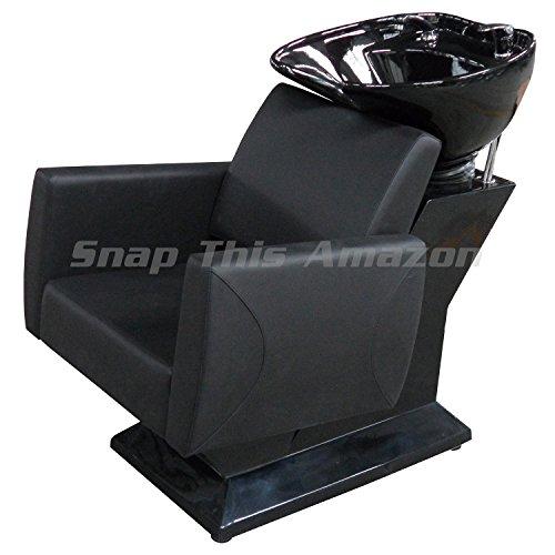 Einheit MST Friseur teknoh schwarz Waschen Einheit mit Einhebelmischer und Brause Kopf Haare waschen Shampoo Salon