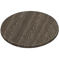 Chiner - Tablero de mesa redondo 60 cm. wengé veteado