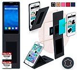 reboon Hülle für Huawei Honor 3C 4G Tasche Cover Case Bumper | Schwarz Leder | Testsieger