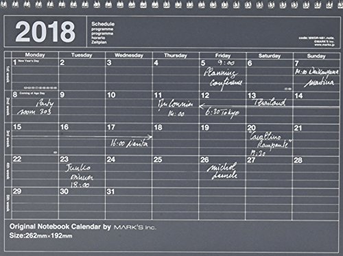 MARK'S 2018 Tischkalender M // Black