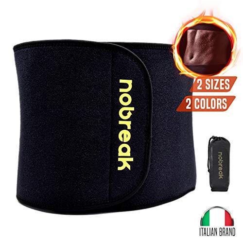 nobreak - fascia addominale dimagrante per uomo e donna - cintura snellente effetto sauna per allenamento aerobico, modella fianchi e pancia - nero