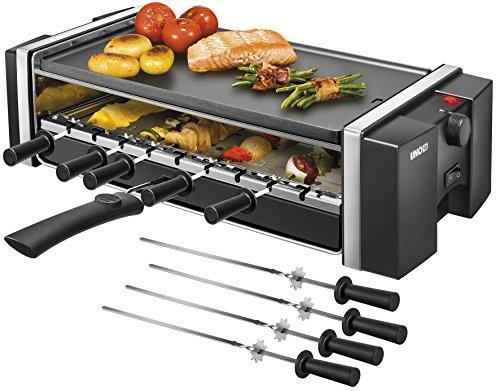 Unold Gill und Kebab, Gleichmäßiges Grillen der Spieße durch zuschaltbare Rotation, schwarz, 1.200 W, 46.9 x 24 x 13.1 cm, 58515
