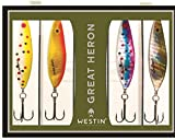 Westin Heron Blinker Set - 4 Meerforellenblinker , Meerforellenköder, Forellenköder, Mefo, Köder für Meerforelle, Mefoköder, Blinker, Küstenblinker, Länge / Gewicht:5.5cm / 13g