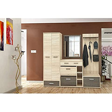 JUSThome Fauna Conjunto de muebles de entrada recibidor Roble Sonoma / Maghreb