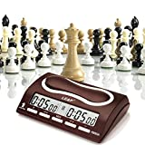 Joyeee Analoge Professioneller Wettbewerb Uhr Schachuhr Zeitgeber, Digital Chess Clock Count Up Down Uhr Timer für Board Schach Spiel Player #1