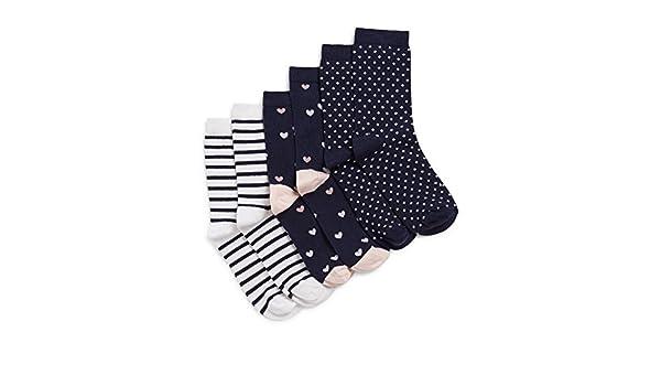ea9611463cb MONOPRIX KIDS - Lot de 3 paires de Chaussettes - Fille - Taille   27 30 -  Couleur   MARINE  Amazon.fr  Vêtements et accessoires