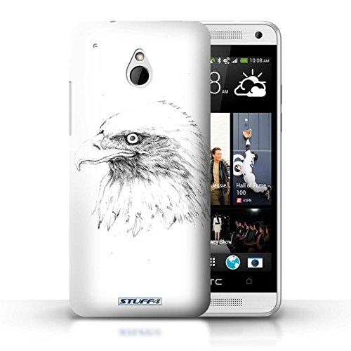 Kobalt® Imprimé Etui / Coque pour HTC One/1 Mini / Léopard conception / Série Dessin Croquis Aigle / Oiseau