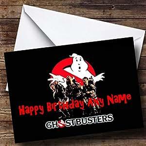 Carte d'anniversaire personnalisée Motif Ghostbusters