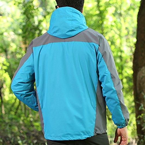 LaoZan Giacca Sportiva Antivento Impermeabile Traspirante e Caldo Uomo Colore 3
