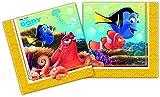 Procos 86650 - Tovaglioli Carta Finding Dory, 20 Pezzi, Blu/Giallo